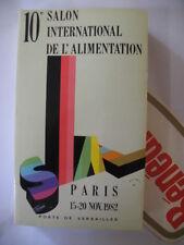 ANNUAIRE CATALOGUE 10éme SALON INTERNATIONAL DE L ALIMENTATION PARIS 1982