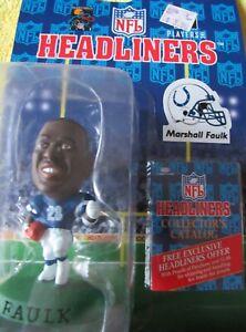 1996 MARSHALL FAULK Headliners figure - Indianapolis Colts Figurine HALL OF FAME