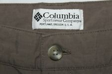 COLUMBIA Men's XL x 30 Brown Convertible Outdoor Nylon Pants