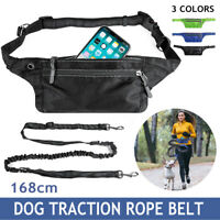 Durable Waist Bag Holder Pet Dog Elastic Traction Rope Leash For Running
