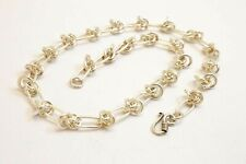 """Chunky 925 Sterling Silver Choker Chain Necklace. 40 grams, 39.5 cm/15.5"""""""