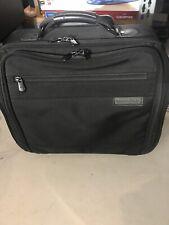 "Briggs & Riley 16"" Compact Nylon Briefcase Wheeled Rolling Black 03-BRW14"