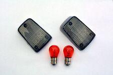 schwarze Blinker Gläser Suzuki GS 500 E GM51A GM51B smoked signal lenses