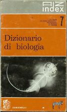 DIZIONARIO DI BIOLOGIA - ZANICHELLI 1958