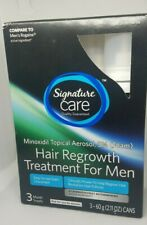 Signature Care Hair Regrowth Treatment for Men 3 Month Supply [E1-SCA] EXP 3/22
