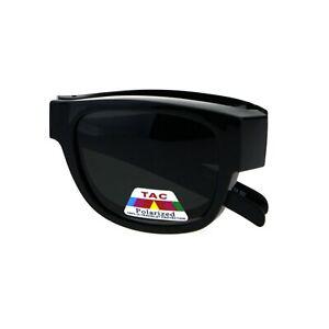 TAC Polarized Lens Foldable Fit Over Sunglasses Over The Glasses Folding Frame
