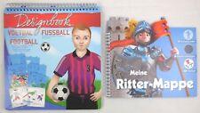 Meine Ritter Mappe + Fußball Mappe, Sticker, Schablonen, Kreativität, malen