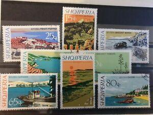 Albania 1967 Albanian Riviera. 8 stamp set CTO