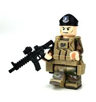Air Force Security Forces Airman Minifigure made with real LEGO® minifig