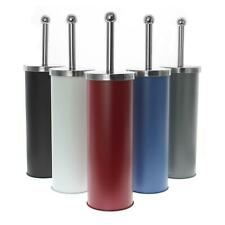 Free Standing Toilet Brush Set Stainless Steel Matte Finish Bathroom Furnishing