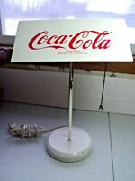 """Coca Cola Bankers Electric Desk Lamp White Rare All Metal Construction 15"""""""