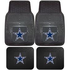 NFL Dallas Cowboys Front Rear Car Truck Rubber Vinyl All Weather Floor Mats
