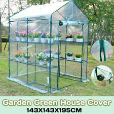 3 Tier Walk In Greenhouse Cover PVC Plastic Garden Grow Green House not   %#*
