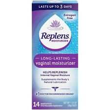Replens Long-Lasting Vaginal Moisturizer, 14 Ct Supplements the body's natural