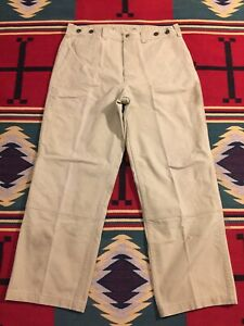 Filson Dry Double Tin Cloth Pants 38x31 Made in USA!!! 4330