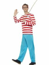 Mens Womens Wheres Wally Wenda Costume Fancy Dress Book Day Week Adults Outfit
