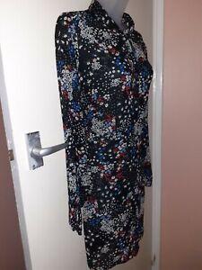 Studio Women's Long Sleeve Chiffon Blouse  Size 18, Holiday Blu155137