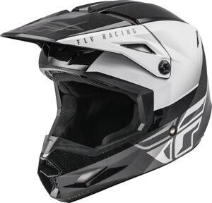 Fly Racing Kinetic Straight Edge Helmet (X-Large, Black/White)