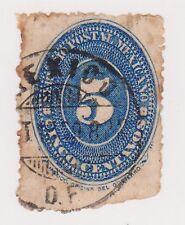 (MCO-44) 1886 Mexico 5c blue (C) (toning)