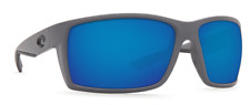 COSTA DEL MAR REEFTON POLARIZED RFT98 OBMGLP SUNGLASSES GRAY/BLUE GLASS 580G