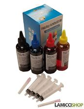 Lamicci 4 Color x 100ml Refill Kit Compatible for Epson Cartridges W/ Syringes.