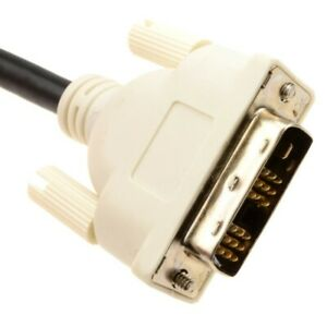 New DVI PC/Laptop Monitor Display Cable 18+1 Male Plugs with Ferrites 1.8m