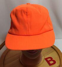 BLAZE ORANGE TRUCKER'S HAT, Small/medium With Snapback Adj GUC