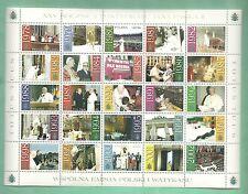 2003 POLONIA 25 PONTIFICATO GIOVANNI PAOLO II NUOVO MNH** CONGIUNTA CON VATICANO