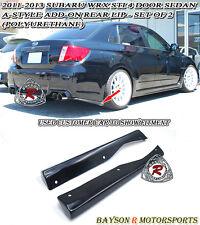 A-Style Rear Lip Aprons (Urethane) Fits 11-14 Subaru Impreza WRX STi 4dr