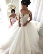 New White/ivory Wedding dress Bridal Gown custom size 6-8-10-12-14-16 +18++ 2017