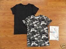 NEW Kids WEATHERPROOF Thermal Shirts 2 pk Long Sleeve Long Johns Black Camo S