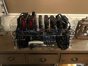 Open Air Mining Rig Frame Case 8 GPU Ethereum ETH BTC LTC