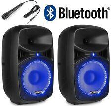 😍 CASSE AMPLIFICATE ATTIVE DJ 400W DIFFUSORI IMPIANTO KARAOKE BLUETOOTH LED USB
