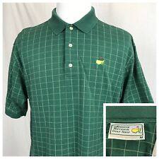 Augusta National Masters Collection Golf Polo Mercerized Shirt Green Men's M