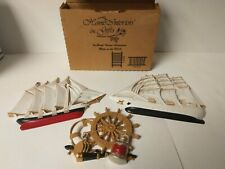 Set Of 3 Home Interiors Burwood Ships Nautical Themed Wall Plaques Homco 1663 Cv