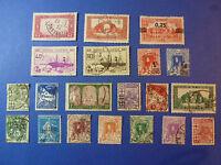 LOT 613 TIMBRES STAMP THEME DIVERS ALGERIE  ANNÉE 1924 - 1946