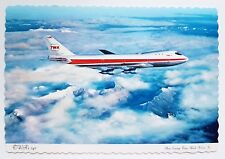TWA - Trans World Airlines Boeing 747 Postcard