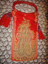 Antique 1800's Victorian Paisley PURSE bag w/ tassels  vintage