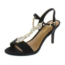 J.Renee Womens Michalla Black Evening Sandals Heels 6.5 Medium (B,M) BHFO 0342