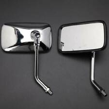 Chrome Rectangle Side Mirrors For Honda Shadow Spirit 750 1100 VTX1300 VTX1800 F