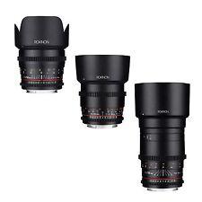 Rokinon Cine DS Telephoto Cine Lens Kit for Canon EF - 50mm + 85mm + 135mm