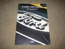 Ford Fiesta, Escort, Mondeo, Scorpio, Explorer Prospekt Brochure von 8/1995