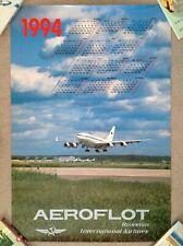 Vintage ORIGINAL AEROFLOT Russian International Airlines POSTER Ilyushin 96