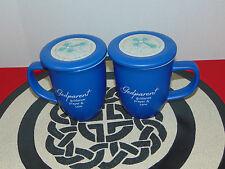 IRISH BLESSING/PRAYER CERAMIC GODPARENT COFFEE/TEA MUG W LID SET OF 2  16OZ CUPS