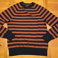 Banana Republic Luxury Blend Cotton Cashmere Blend LS Striped Sweater Men's M