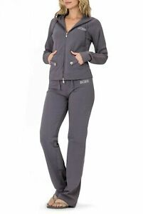 BCBG MAXAZRIA, Branded Logo Stud detail Hoodie & Pant Set BC12873J/P Grey