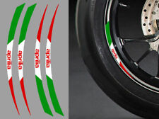 "4 X STICKERS ITALIE ROUE JANTE 17"" POUR APRILIA AUTOCOLLANT MOTO (RA087AP)"