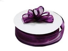 Satin Edge Organza Ribbon 15mm  x 25 yd Roll Choose Colour