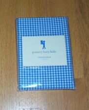 Pottery Barn Kids NEW Blue Gingham Percale Standard Pillow Sham, NWT