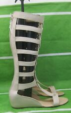 "new Skintone 2""Wedge Heel Open Toe Strap Sexy Summer Gladiator sandal Size 9"